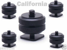 """Lot of 5x Pro1/4""""-20 Tripod Mount Screw to Flash Camera Hot Cold Shoe Adapter"""