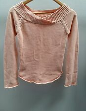 MNG Peach Jumper Size Small Boatneck  C2477