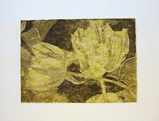 TULIPMANIA 3 GOLD - LIMITED EDITION SIGNED AQUATINT ETCHING by Studio Angela