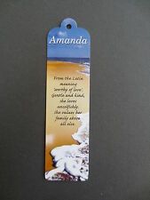 BOOKMARK AMANDA Name Meaning Personalised New CHRISTMAS STOCKING  Gift Present