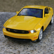 Model Cars Muscle 1:32 Ford Mustang GT 2012 Yellow Alloy Diecast Collection Toys