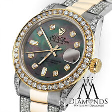 Women's 31mm Rolex Oyster Perpetual Datejust Custom Color set Diamond Accent