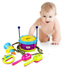 Hot 5Pcs Baby Boy Girl Drum Set Musical Instruments Kids Drum Set Children Toys