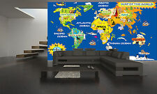 World Kids Map Wall Mural Photo Wallpaper GIANT WALL DECOR PAPER POSTER