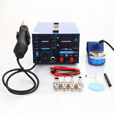 YIHUA 853D 2A 4LED 5V USB Repair Rework Soldering Station 110V w/ Hot Air G