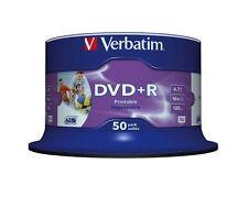 50 DVD +R PRINTABLE VERBATIM AZO 16x vergini stampabili inkjet FULL PRINT 43512