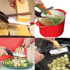 סכין מטבח עם קרש חיתוך