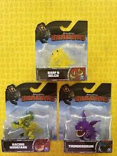 HOW TO TRAIN YOUR DRAGON LOT 3 RARE MINI DRAGONS THUNDERDRUM HOOKFANG BARF BELCH