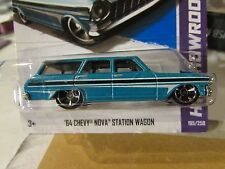Hot Wheels '64 Chevy Nova Station Wagon HW Showroom Blue