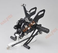 Black CNC Rearset Foot pegs Rear set For Kawasaki NINJA ZX10R 2004-2005 04-05