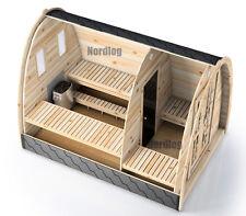 NordLog Sauna Pod 2,4 x 3,0m Gartensauna Saunahaus Saunahütte Außensauna Sauna