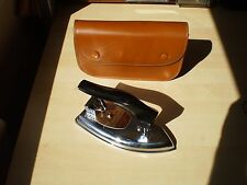 Vintage Retro Pifco Chrome Folding Travel Iron & Case, Dual Voltage England VGC