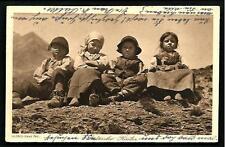 Bambini del Sudtirolen ( Trento ) - viaggiata primi '900