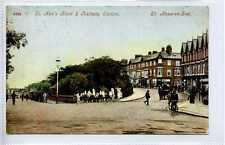 (Lb6185-447) St. Ann's Road & Railway Station, St. Anns-on-Sea 1908 Used G-VG