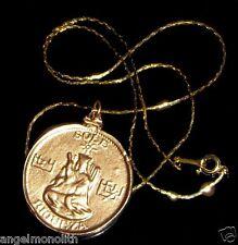 Vintage Antique Style Moon Buddha Glücksbringer Talisman Amulett