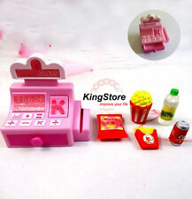 Mini Store Shop Cash Register Kit Toys 6pcs for Barbie Fashion Doll Accessories