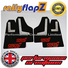 rallyflapZ SUBARU IMPREZA Sedan (2010-2014) Mud Flaps Black STi Red 3mm PVC