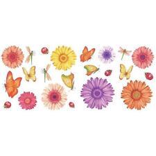 GERBER DAISIES WALL DECAL GIRLS Flowers Stickers Ladybird Butterflies Dragonfly