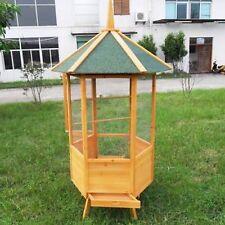 Voliera gabbia recinto  in legno  per uccelli XXL  98x98x195 cm