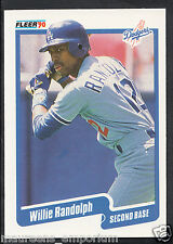 Fleer 1990 Baseball Card - No 406 - Willie Randolph - Dodgers