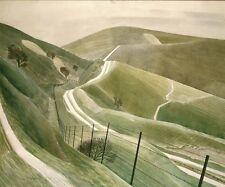 """Rutas de tiza, 1935-Eric Ravilious - 19x13"""" Cartel"""