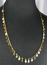 NWT  J Crew  Gold Tone Necklace  Gold Oval Disks  NEW