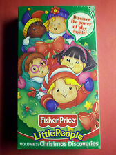 Fisher Price * Little People Christmas Discoveries VHS