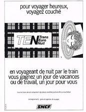 PUBLICITE  1976   SNCF   TEN  voyage de nuit