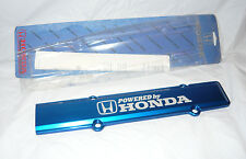 OEM POWERED BY HONDA BLUE ANODIZED Spark Plug Cover Valve B16 B18 DOHC VTEC