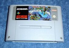 * TURTLES IV 4 - TURTLES IN TIME * SUPER NINTENDO SNES GAME - PAL VERSION - RARE