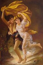 "Pierre Auguste Cot - The Storm reproductions  Portraits Oil Painting - 24""x36"""