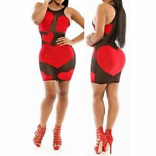 Women Short Sexy Sleeveless Bandage Bodycon Party Club Evening Mini Dress