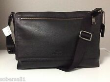 Coach Sullivan Pebble Leather Black Messenger Bag F71645 Msrp $450.00