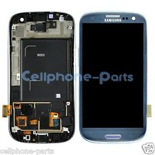 Samsung Galaxy S3 i9300 LCD Screen Display + Digitizer Touch & Bezel Frame Blue