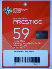 TICKET Hospitality FIFA WM 2006 England - Portugal Match 59 in Gelsenkirchen