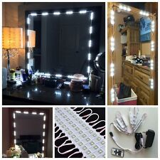 white 5FT Dressing Mirror Lighted Cosmetic Makeup Vanity LED light+remote+power