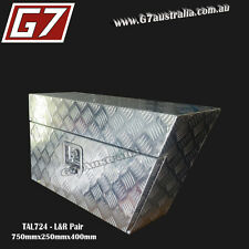 2mm Aluminium Underbody ToolBox 750x250mm Checker Plate Trailer 4x4 ute trailer9