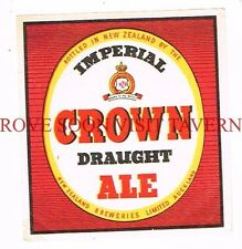 1950s New Zealand Crown Draught Ale Aukland Beer Labels Tavern Trove