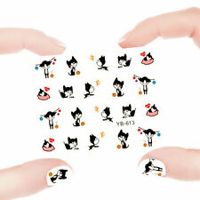 Nail Art Manicure Water Transfer Decal Sticker Lovely Cat YB613