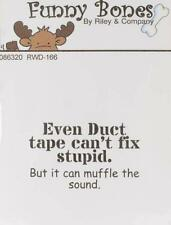 New RILEY & CO FUNNY BONES Rubber Stamp DUCT TAPE free us ship cling