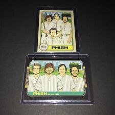 Phish Rare Philadelphia 2014 Mann Center Baseball Card Set o Two Mini Poster Art
