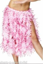 Onorevoli lunga ROSA Hawaiano Hula Girl Floreale ERBA Gon na Costume