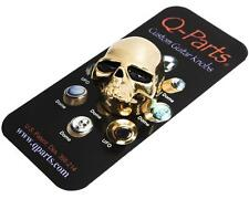 Q-Parts SKULL II Custom Guitar Volume/Tone Knob GOLD