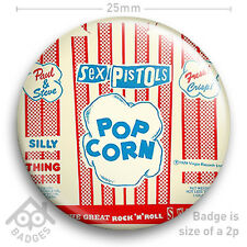 "The Sex Pistols SILLY THING Pop Corn Cover JAMIE REID - NEW - 25mm 1"" Badge"