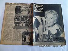 RADIO CINEMA TELEVISION N°330 13/05/1956 KIM NOVAK BOURVIL JEAN GABIN  G13