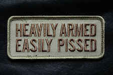 HEAVILY ARMED EASILY PISSED  2ND AMENDMENT TACTICAL MORALE HOOK LOOP  PATCH