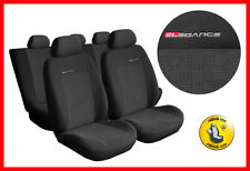 Universal CAR SEAT COVERS full set fits Ford Fiesta  charcoal grey PATTERN 1