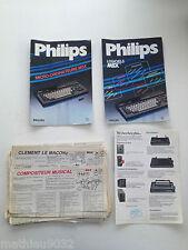 Livre Manuel d'utilisation MSX Philips et divers : revues de programmations etc