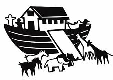 Custom Noah's Ark Animals Bible Sunday School Room Vinyl Wall Decal Sticker