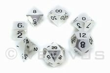 DICE Metal Mk 2 - SILVER Set - d20 Shiny Heavy RPG D&D Norse Foundry Mirror